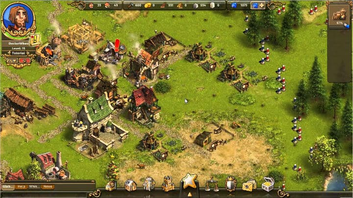 The Settlers Online game