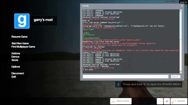 Gmod Console Commands & Cheats Guide
