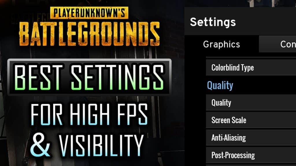 Best Settings For PUBG - Improve FPS, Optimize Competitive