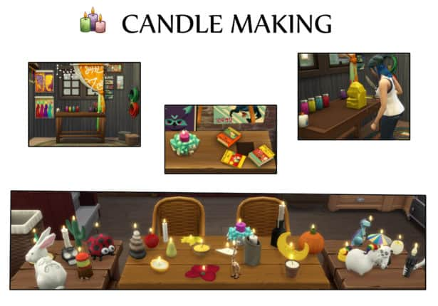 Candle Making - best sims 4 mods