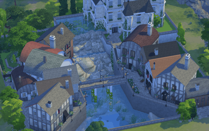 Old French Village - best sims 4 mods
