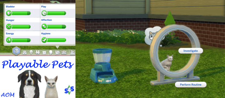 Playable Pets - best sims 4 mods