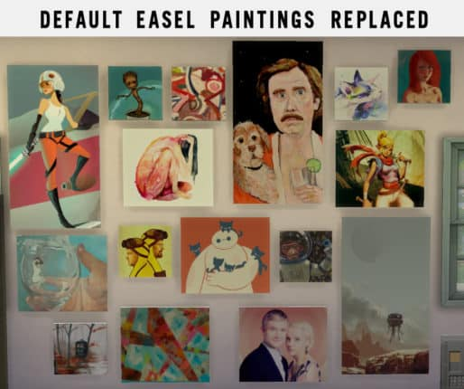 Replacement Paintings - best sims 4 mods