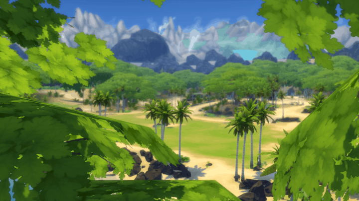 Tropical Getaway - best sims 4 mods
