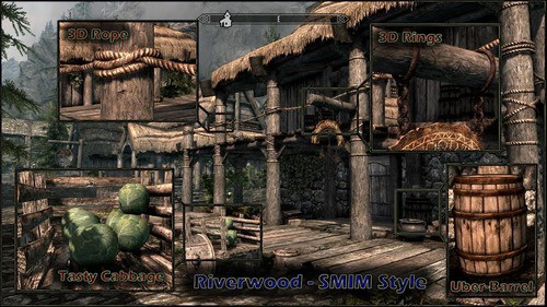 best skyrim mods -Static Mesh Improvement Mod