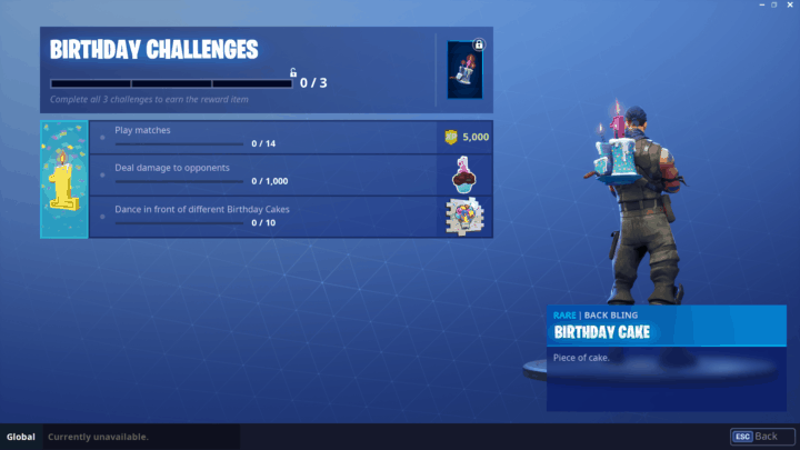Fortnite Birthday Challenges