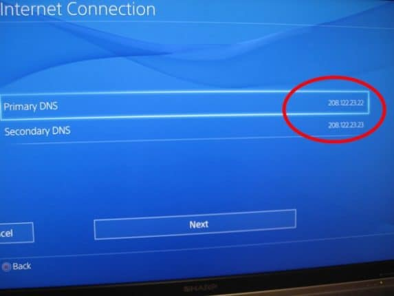 ps4 Set Up DNS