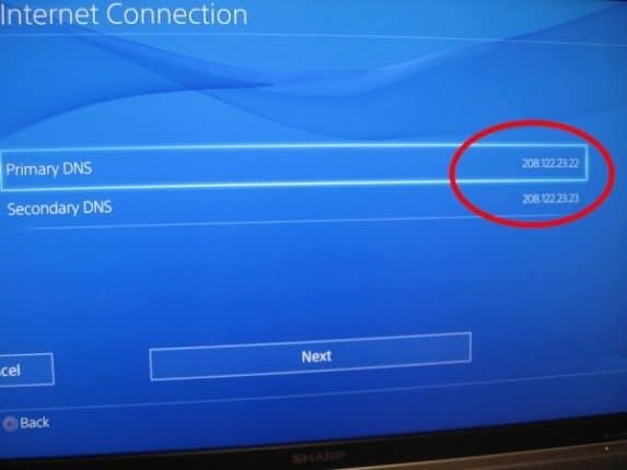 ps4 Set Up DNS