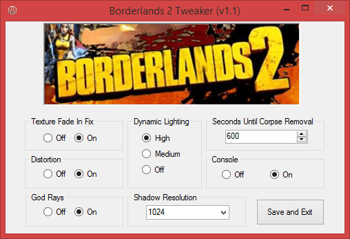Borderlands 2 Tweaker