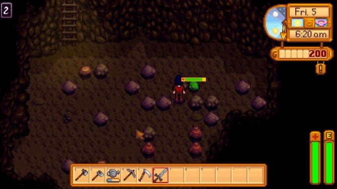 Stardew Valley mod -  Enemy Health Bars