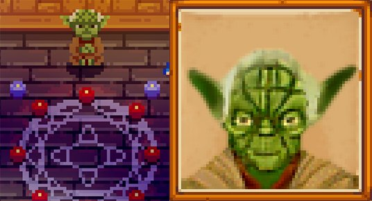 Stardew Valley mod -  Yoda Wizard
