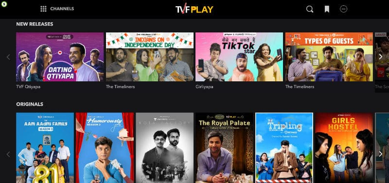 A Screenshot of TVplay.com