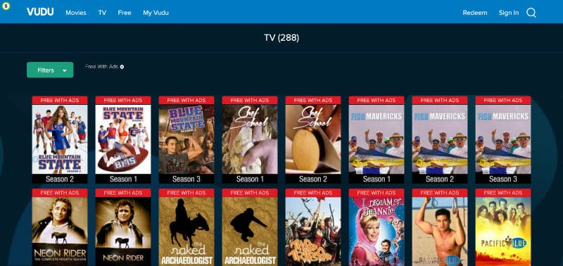 Screenshot Vudu