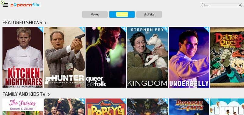 Screenshot popcornflix