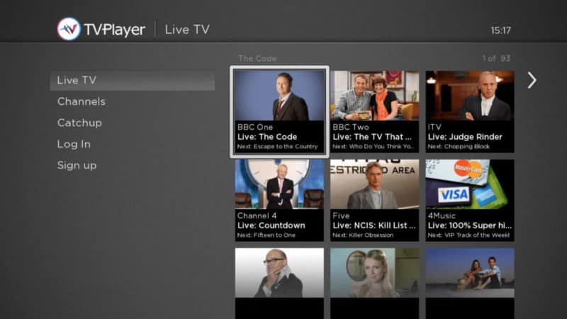 Screenshot of TVPlayer